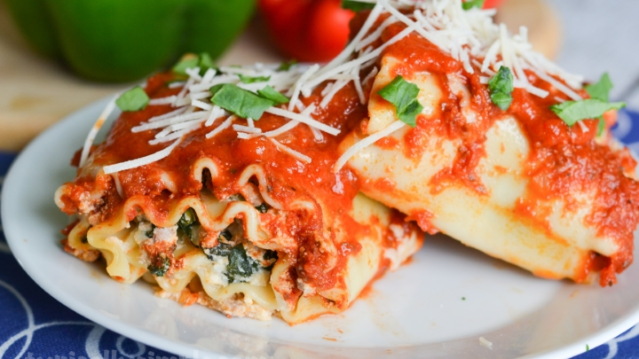 Three Cheese Lasagna Roll-Ups