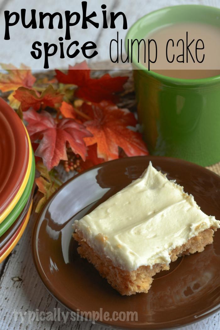 Pumpkin Pie Spice Dump Cake