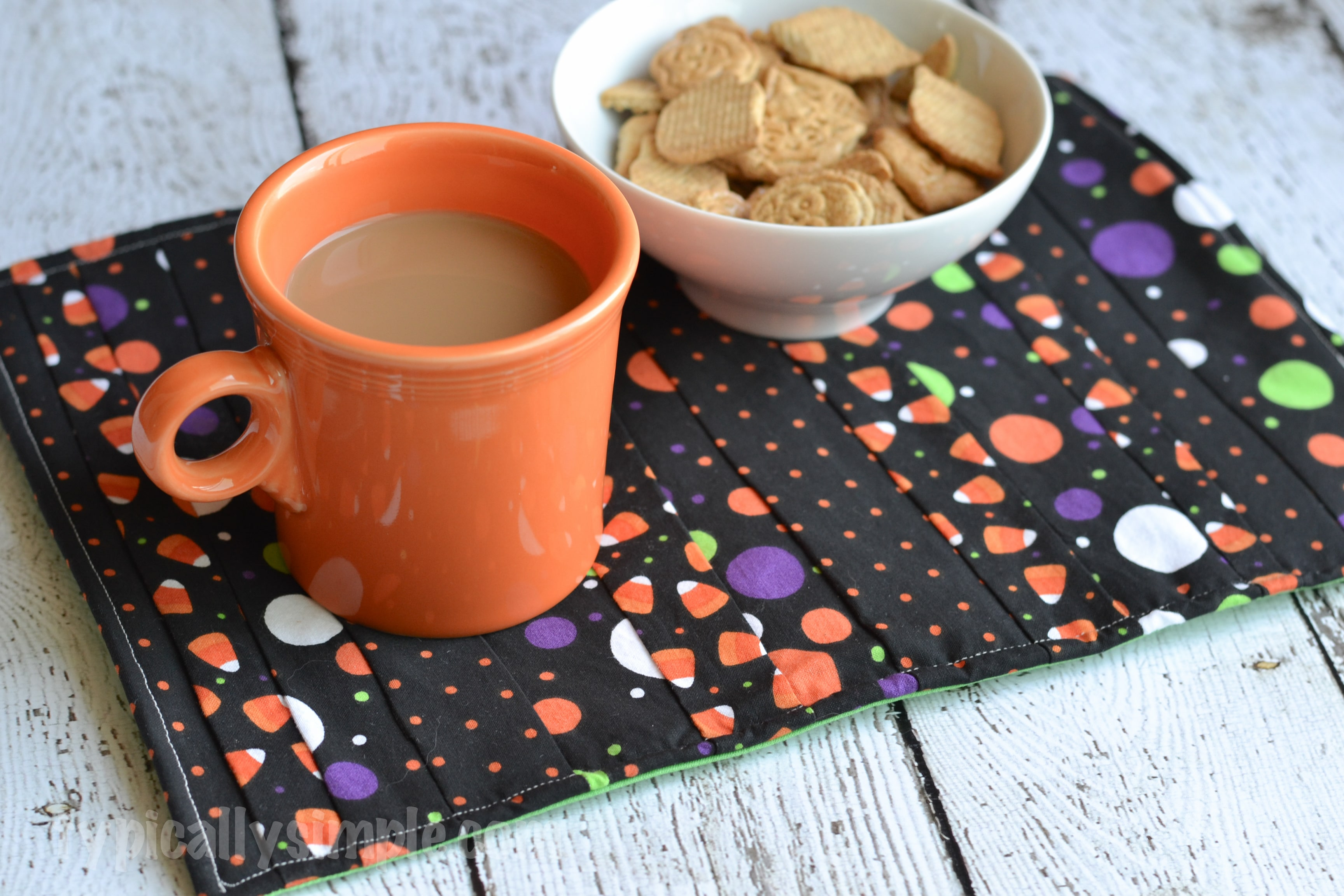 Halloween Mug Rug Sewing Tutorial