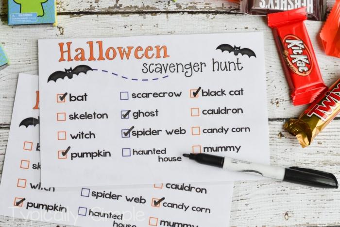 Halloween Scavenger Hunt-1