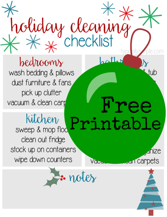 HolidayCleaningChecklist