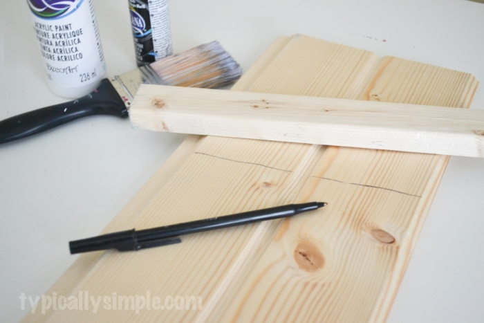 scrap wood door decor snowman