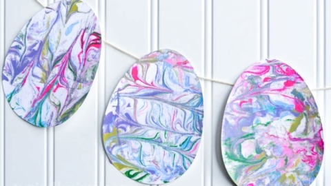 Marbled Paper Easter Eggs
