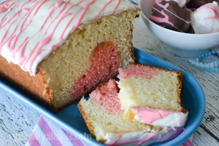 With a fun peek-a-boo heart that appears when you cut into the cake, make this surprise cake for a Valentine's Day