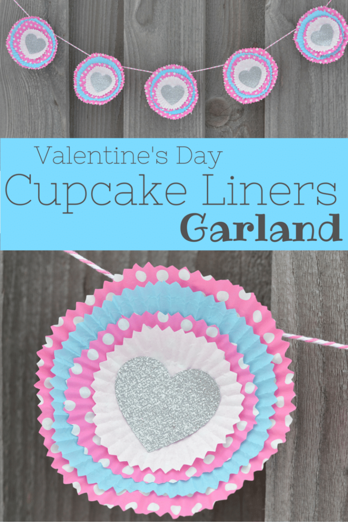 Valentine's Day Cupcake Liners Garland