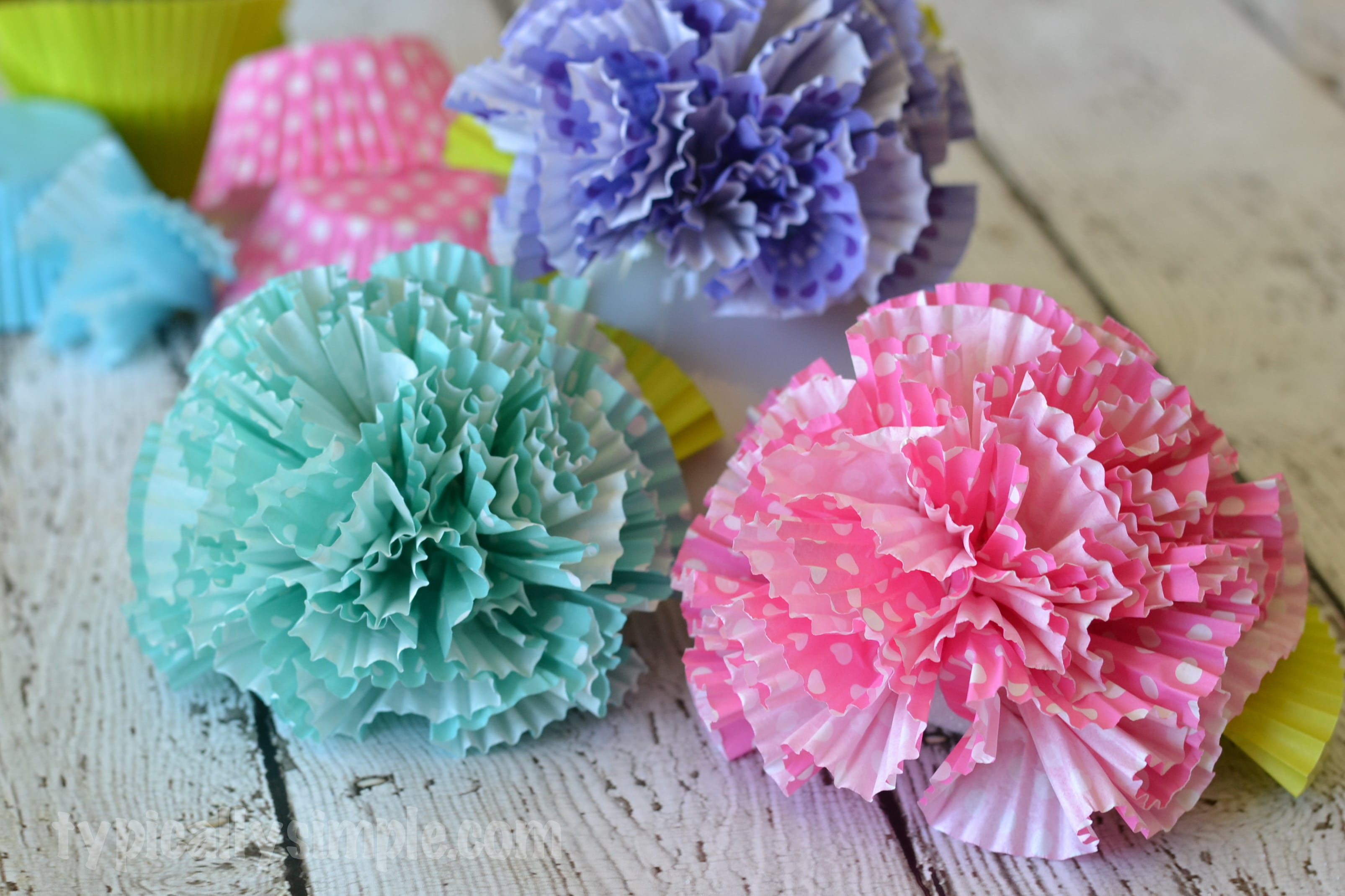 Flowers Cupcake Liners Craft Typically Simple