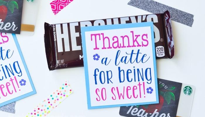 Thanks A Latte – Free Printable