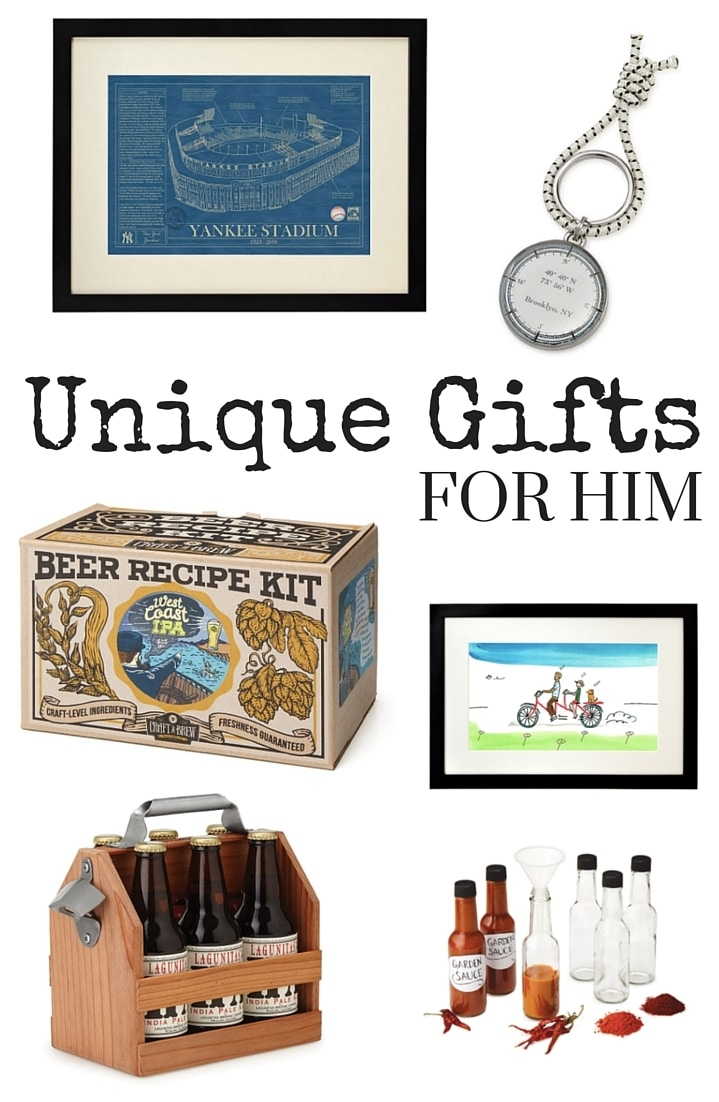 unique gifts for him typically simple