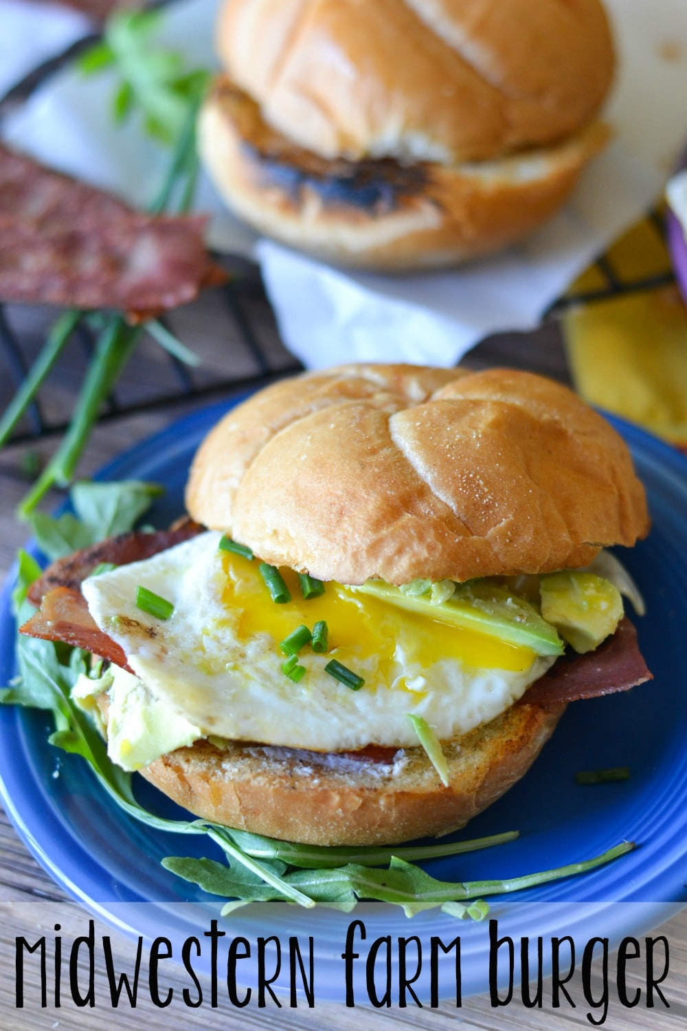Packed full of fresh flavors, this Midwestern Farm Burger is a delicious way to get your morning off to a great start!
