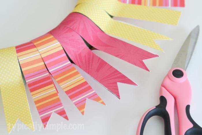 Scrapbook Paper Wreath