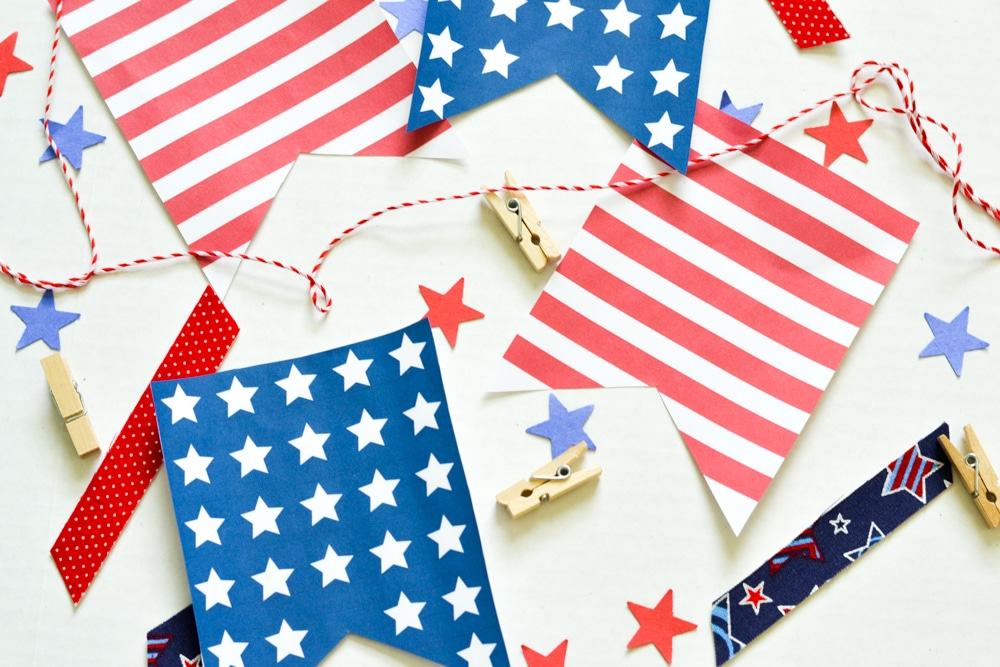 Stars & Stripes Banner Printable