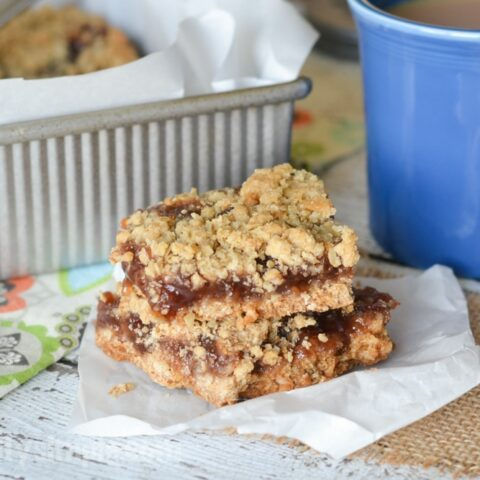 One bowl, a pan, and a few ingredients found in the pantry are all you need for these delicious strawberry Jam Crumb Cake Bars!