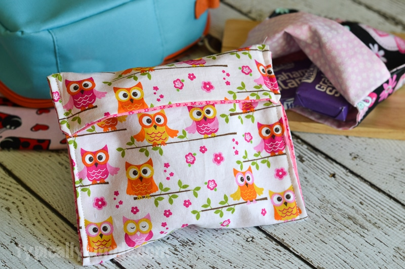 Reusable Snack Bag Sewing Tutorial