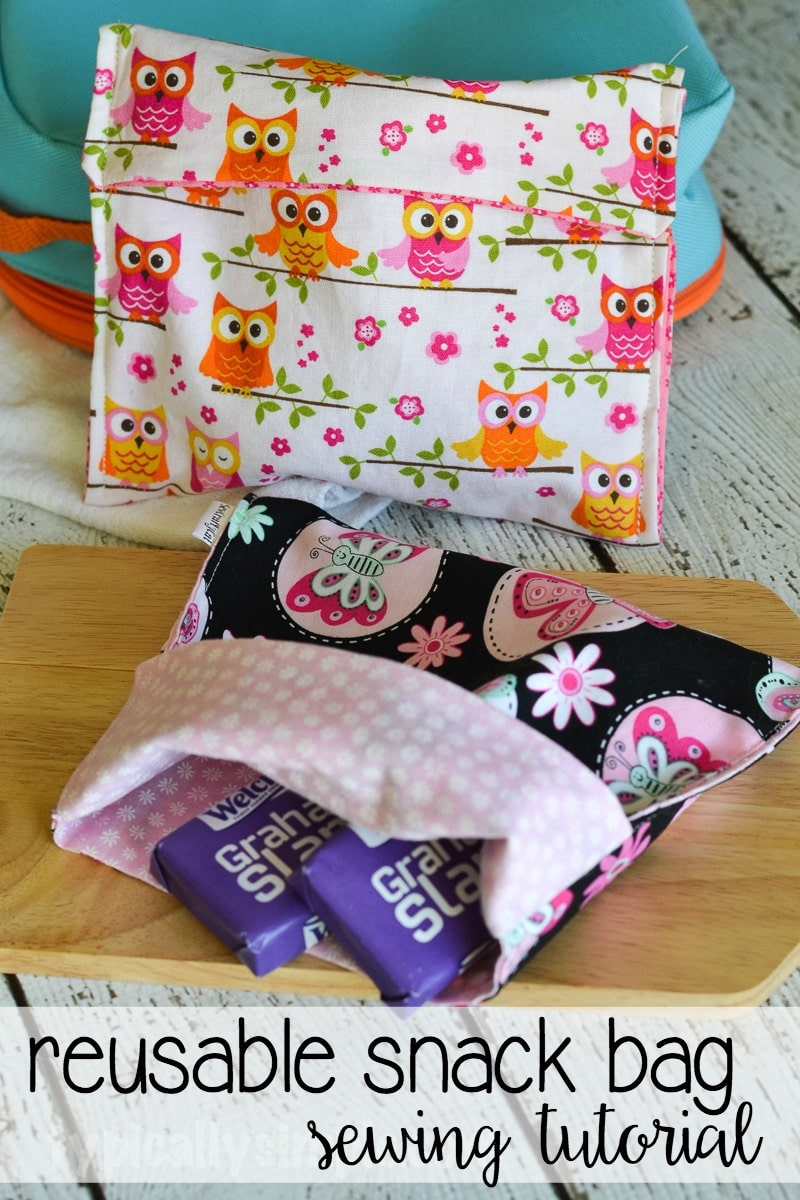 Reusable Snack Bag Sewing Tutorial Typically Simple