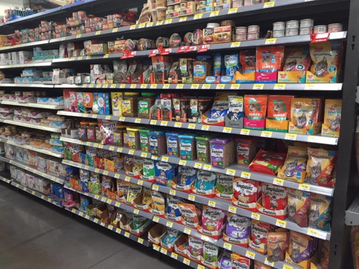pet care aisle