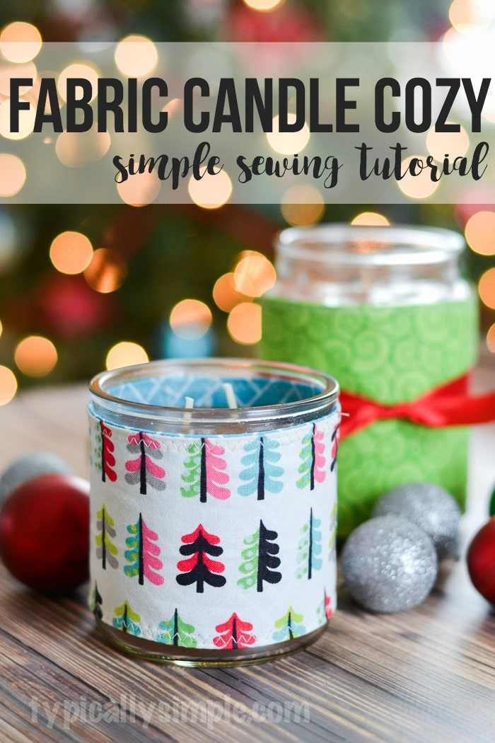 fabric candle cozy tutorial