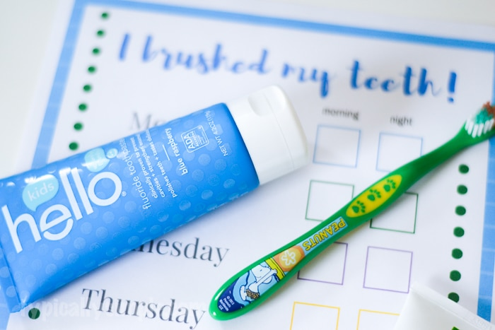 Brush Happy with Hello Toothpaste for Kids