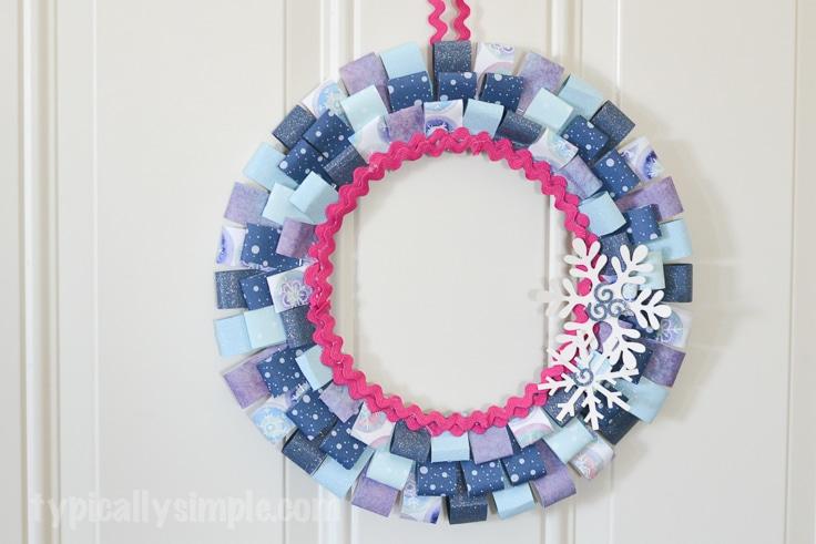 Scrapbook Paper Winter Wreath
