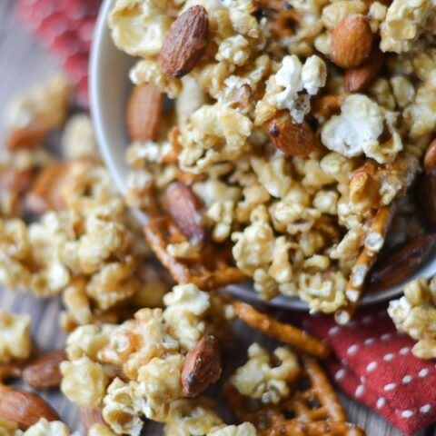 Sweet and Salty Caramel Corn Snack Mix