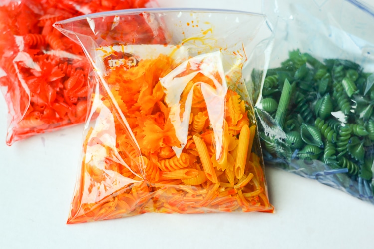 How to Dye Pasta Noodles for Crafts - Typically Simple