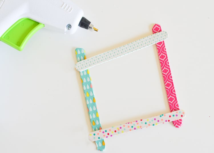 Washi Tape Craft Stick Frames - Typically Simple