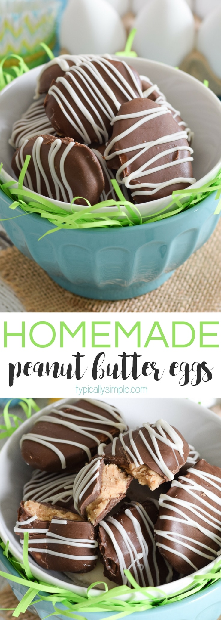 With just four basic ingredients, these homemade peanut butter eggs are super easy to whip up for Easter!