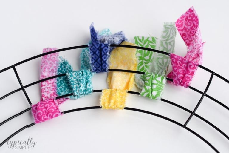 Fabric Rag Wreath Tutorial - Typically