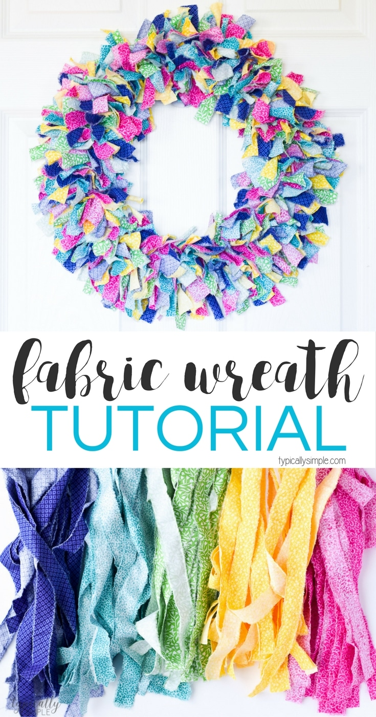 Fabric Rag Wreath Tutorial Typically Simple