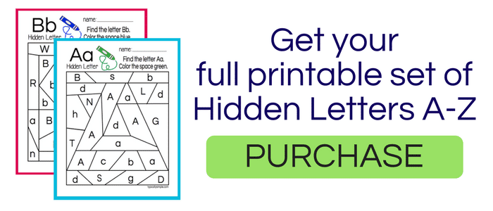 Hidden Letter Number Free Printable Typically Simple