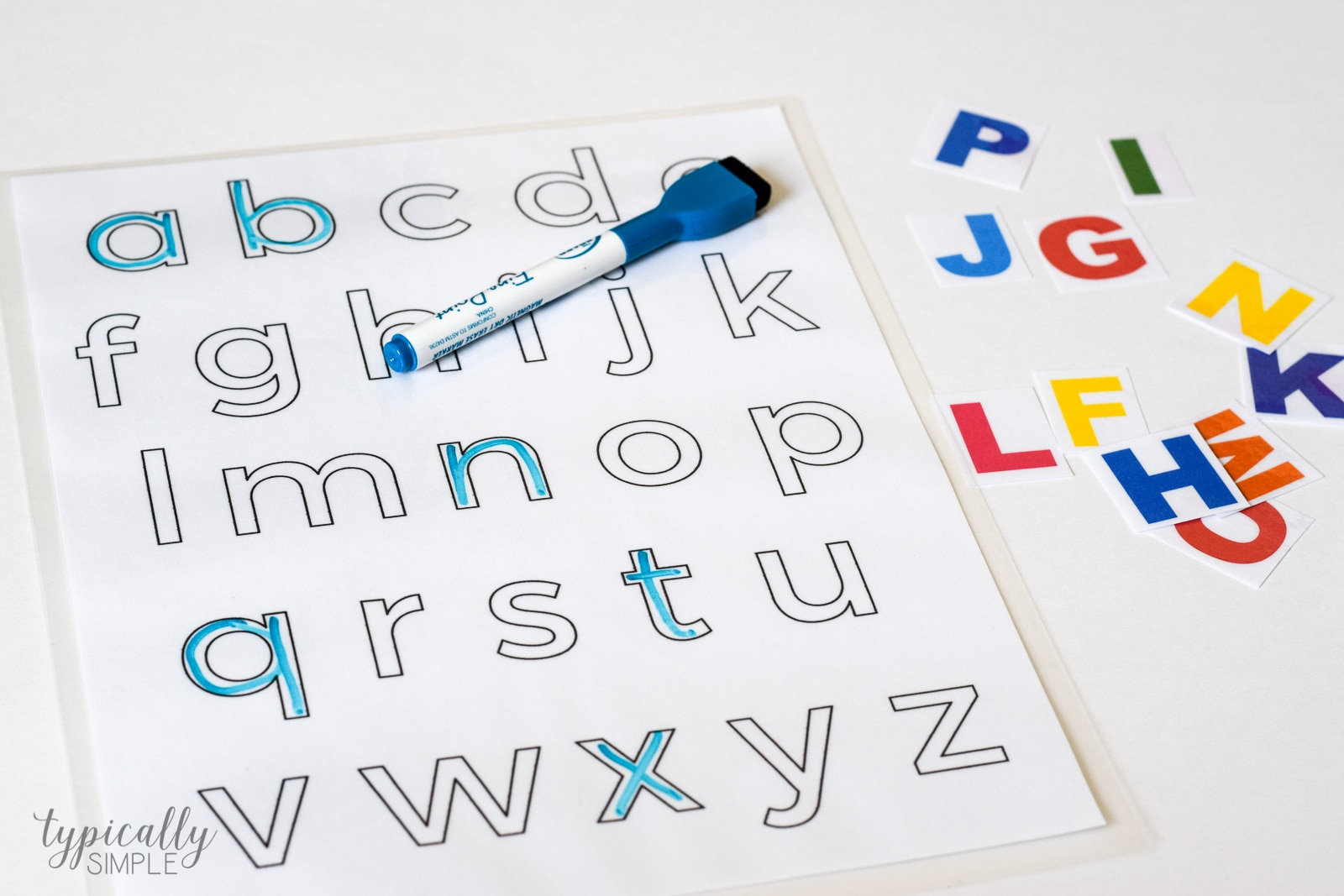 To Make It Even More Challenging For Your Little Learners You Can Do A Mix Of Lowercase And Uppercase Letters