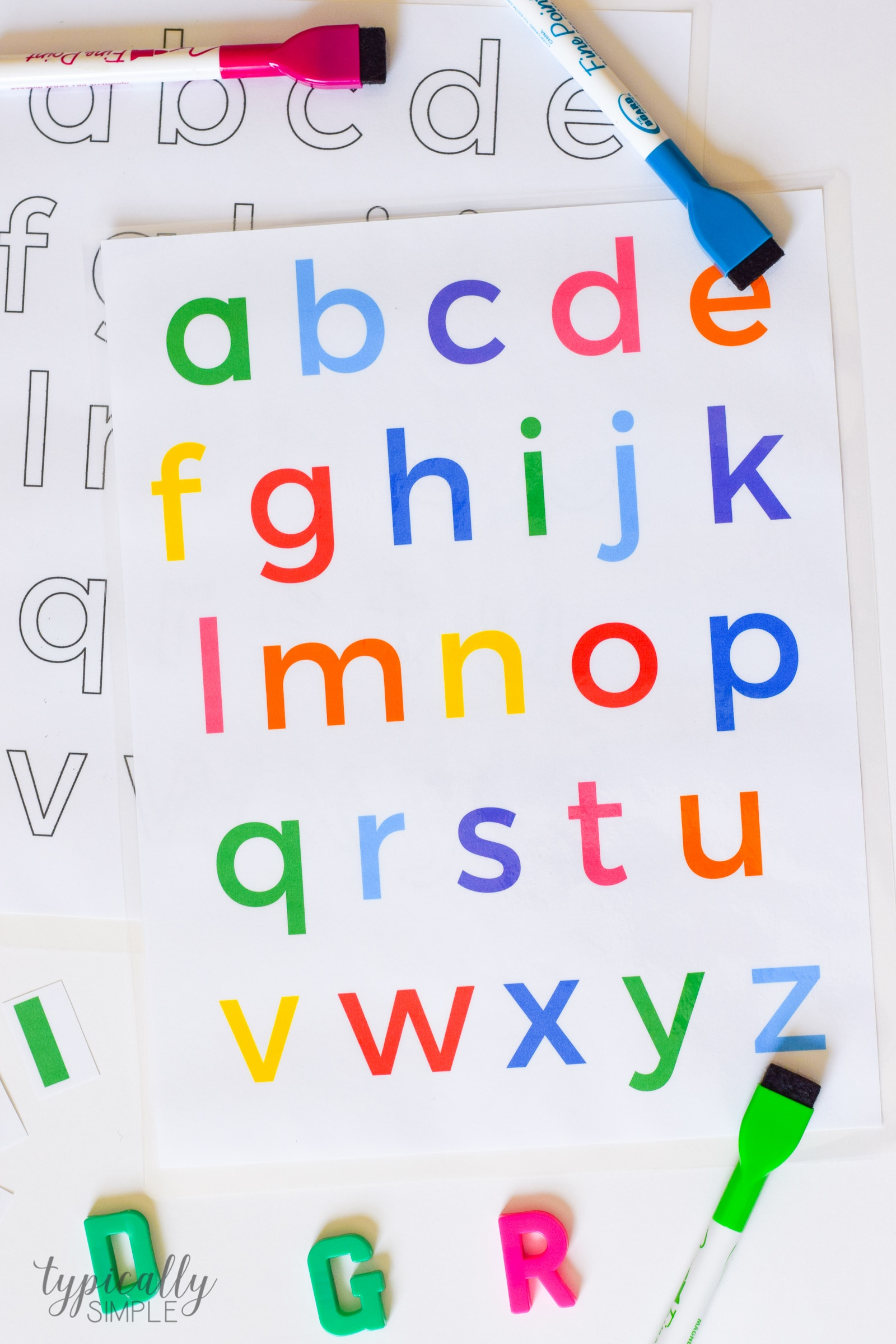 photograph about Free Printable Lower Case Letters titled Alphabet Routines: Lowercase Letters Printable - Ordinarily