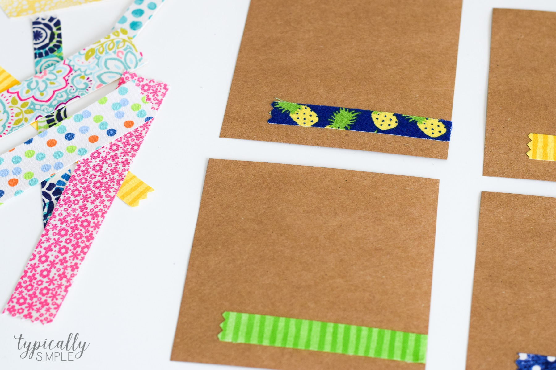 notecards with fabric tape