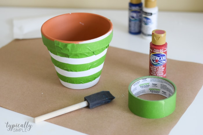 Patriotic Flower Pot Craft Typically Simple