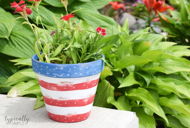 Patriotic Flower Pot Craft