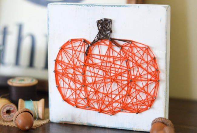 Pumpkin String Art Craft