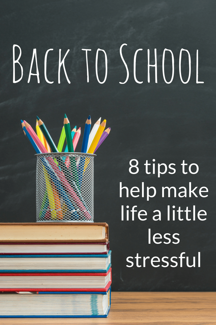 8 simple tips to help make going back to school a little less stressful. {ad}