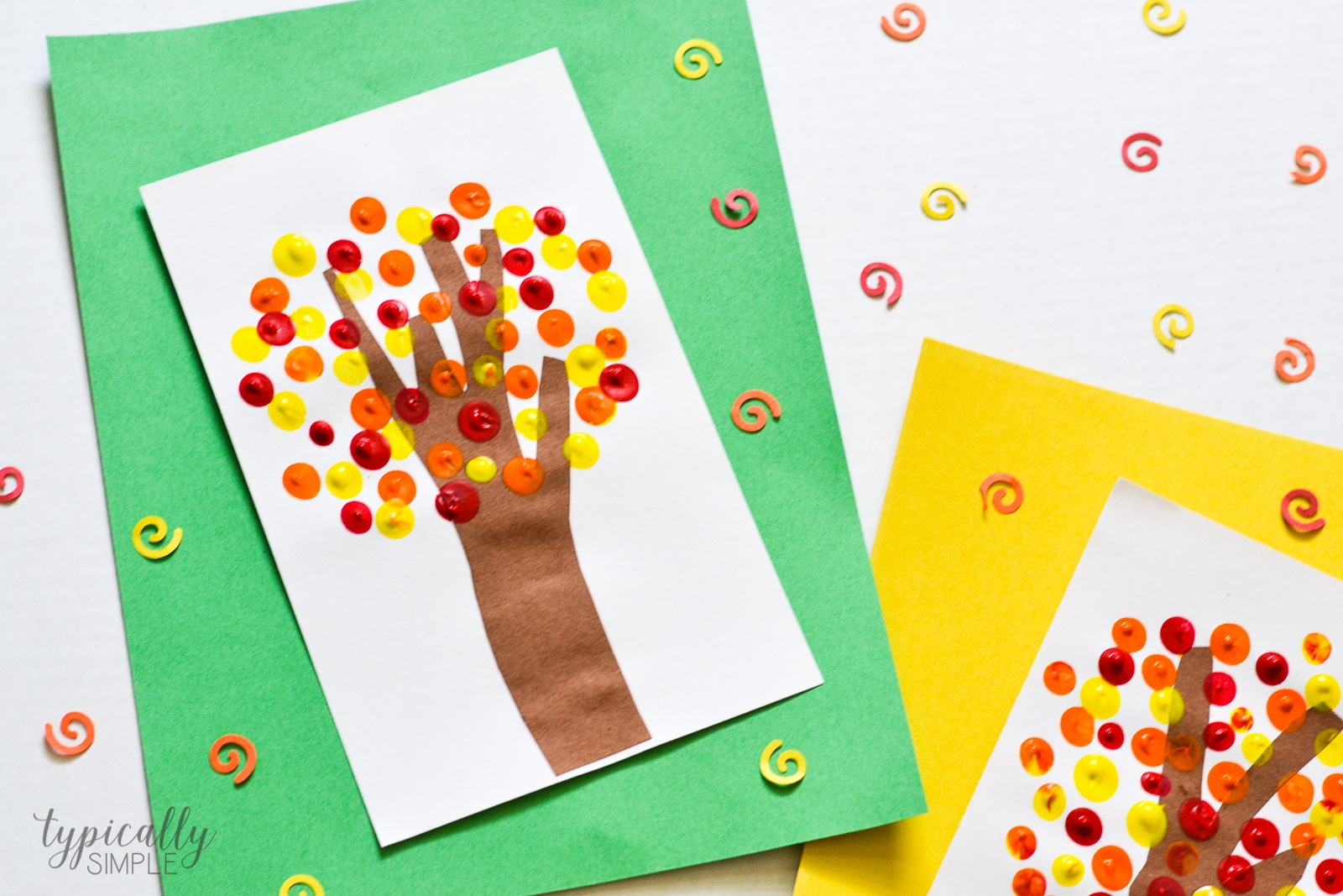Fall Fingerprint Trees Craft Typically Simple
