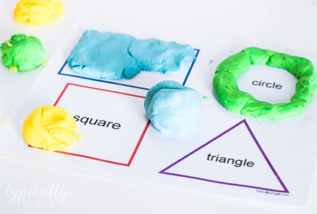 Two Ingredient Homemade Play Dough Recipe