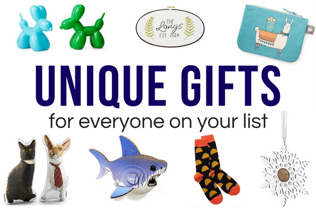 Unique Christmas Gifts for Everyone on Your List