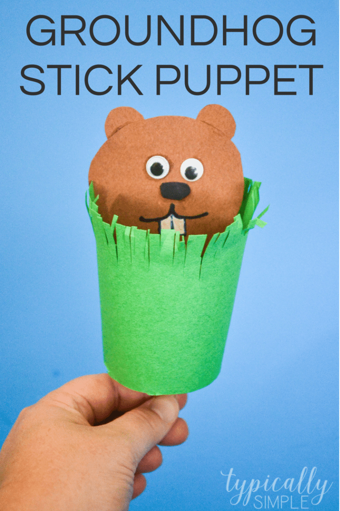 Grab a few basic supplies to make this cute stick puppet for Groundhog's Day! The kids will have so much fun popping the groundhog out of his little burrow - will the groundhog see his shadow on February 2nd?