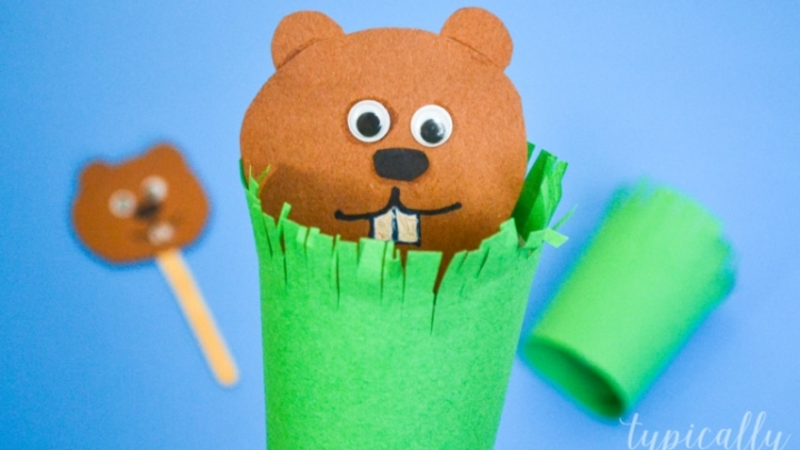 Groundhog Puppet Craft for Kids