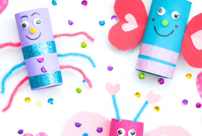 Love Bugs Toilet Paper Roll Craft