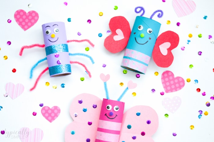 This Valentine's Day toilet paper roll craft is sure to be a hit with the kids! Create a whole colony of love bugs using basic craft supplies - perfect for a classroom party!