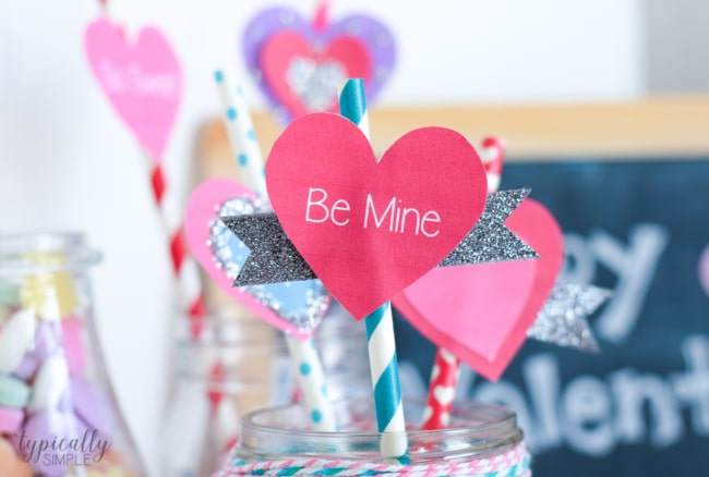 Valentine's Day Craft: Straw Toppers