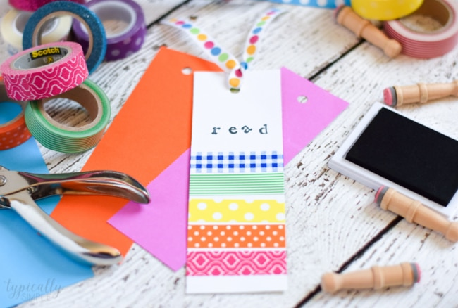 Washi Tape Bookmarks: Crafts for Kids