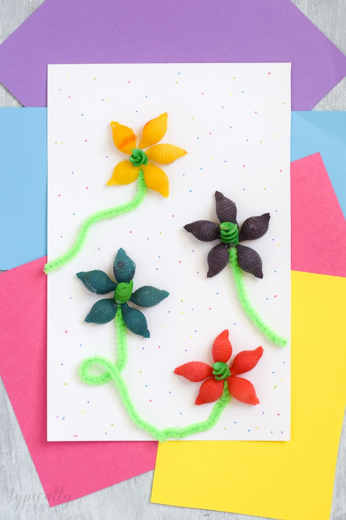 Pasta Flowers Craft For Kids Typically Simple