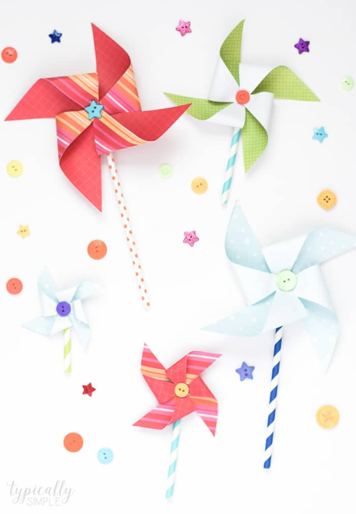 paper pinwheels craft for kids