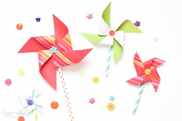 colorful paper pinwheels for spring