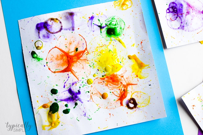 Bubble Painting Colorful Craft For Kids Typically Simple