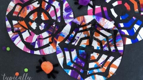 Spin Art & Tissue Paper Spider Webs